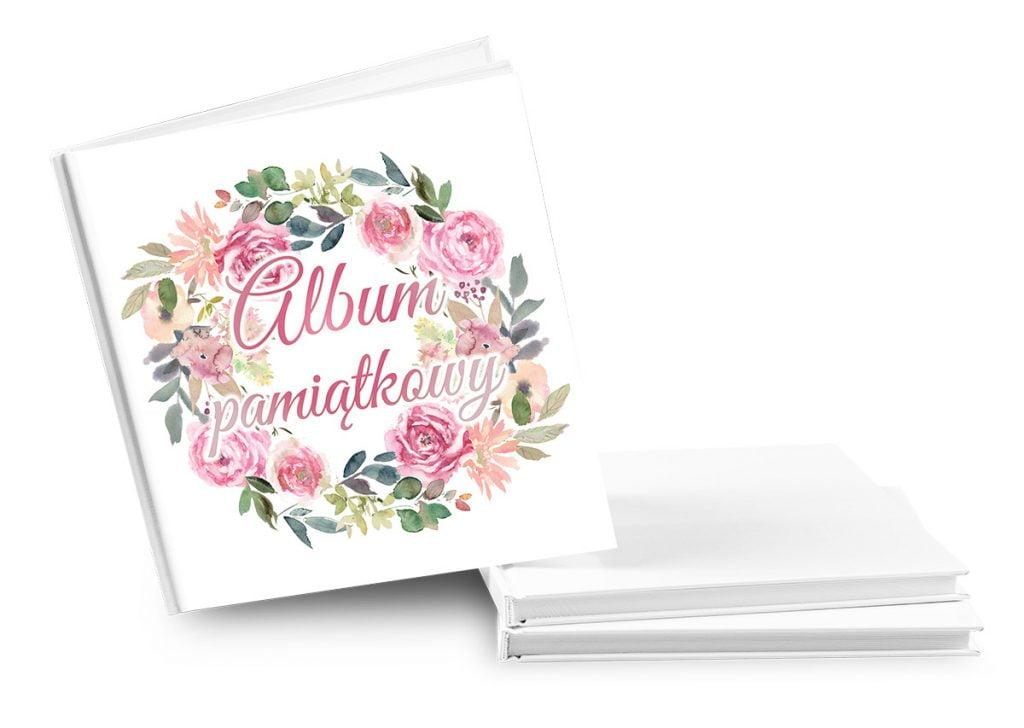 """Księga gości z napisem """"Album pamiątkowy"""" - Album pamiątkowy na wesele"""