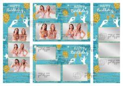 Szablony do fotobudki na urodziny Birthday01 Premium