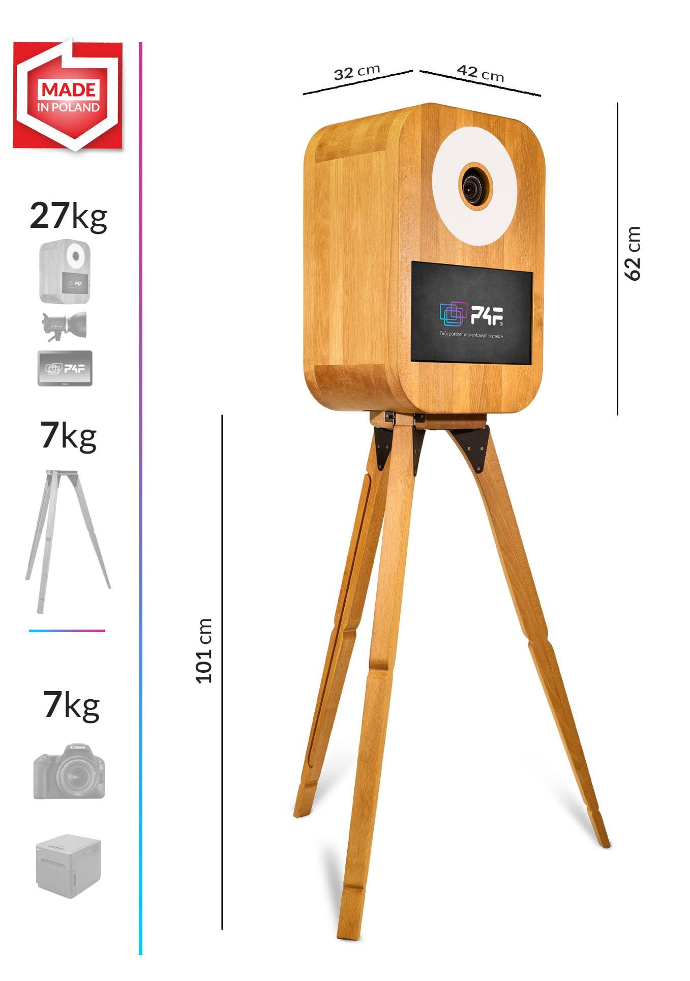 fotobudka retro s one wymiary i waga