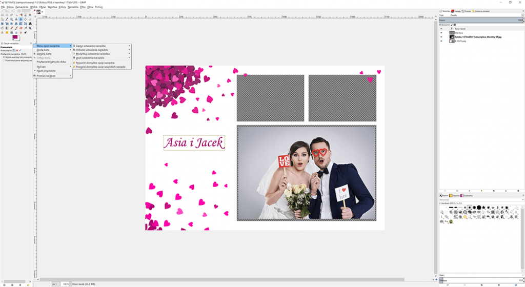 gimp tworzenie grafik do fotobudek
