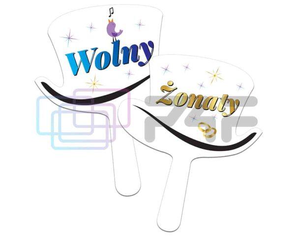 tabliczka kapelusz fotolustro