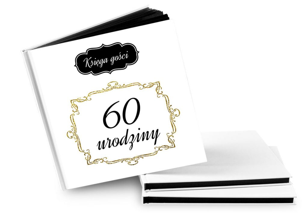 księga gości na 60 urodziny