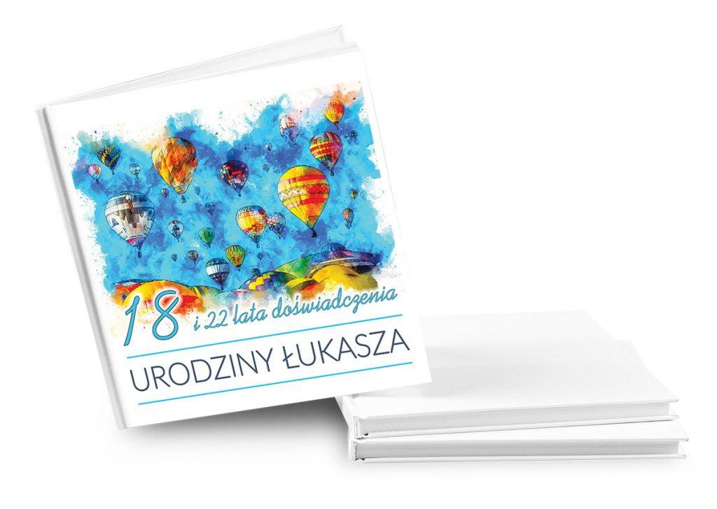 Księga gości na urodziny - wiele wzorów - nadruk UV