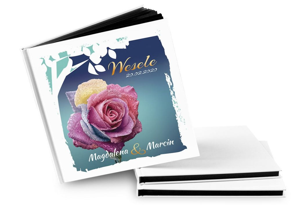 księga gości na wesele wzór róża