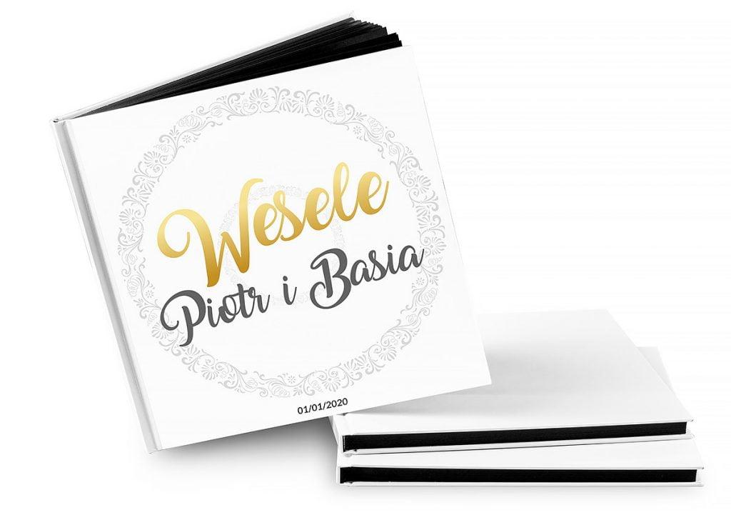album gości weselnych złoty napis