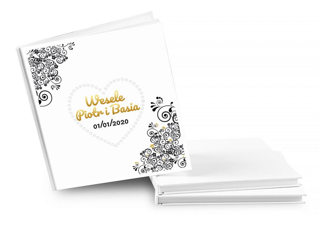 ksiega gosci weselnych białe strony