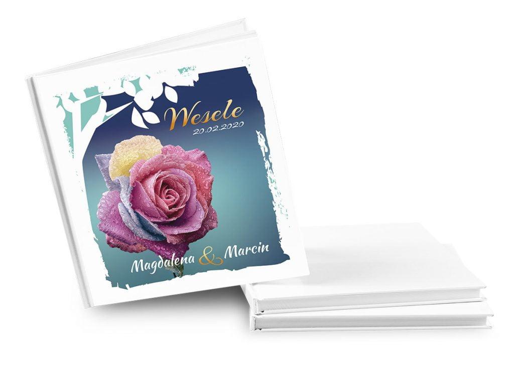 księga gości wesele róże kolorowe