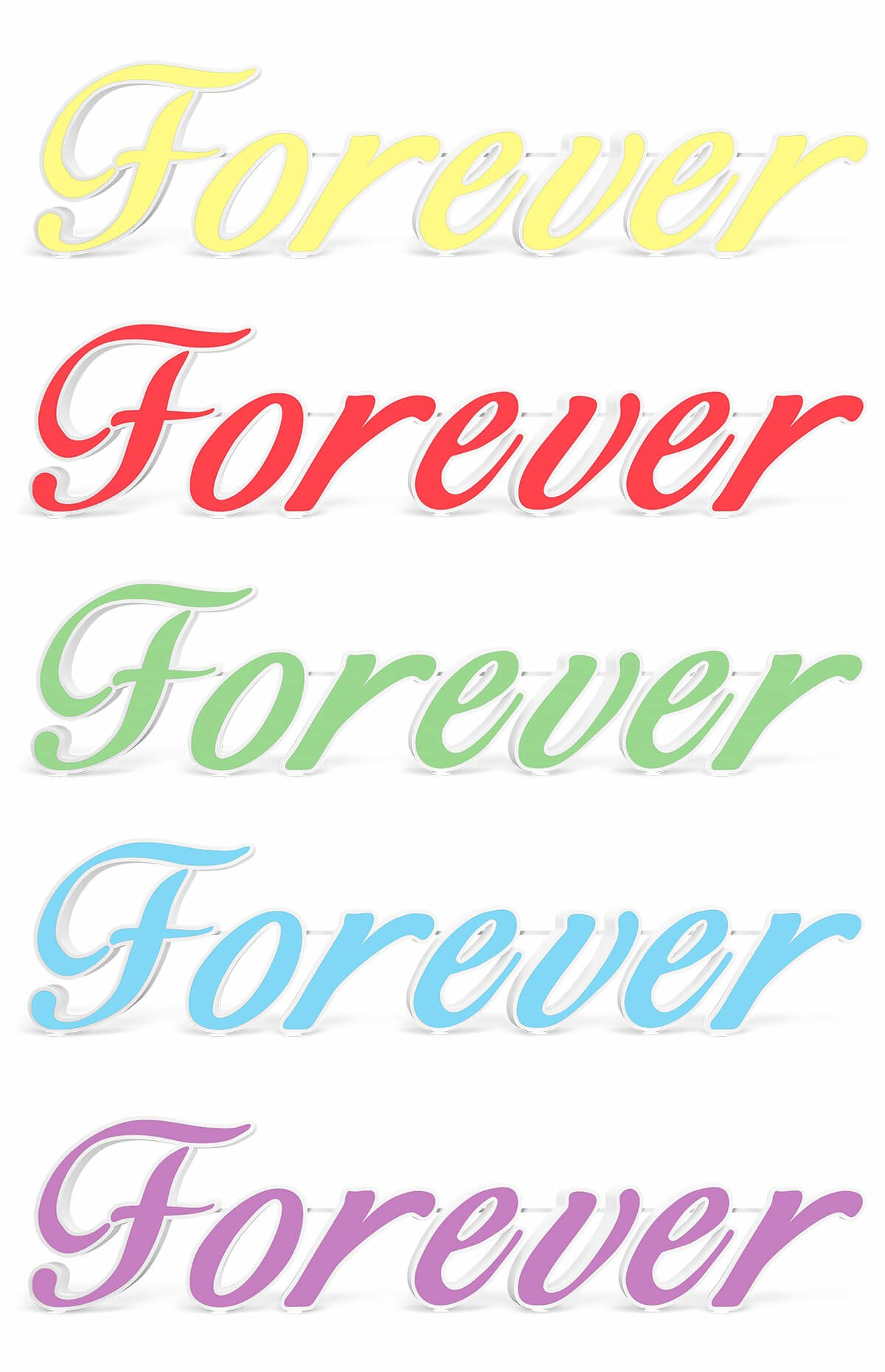 napisy forever 3d 120 kolory s