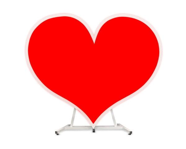 serce led rgb heart napis led