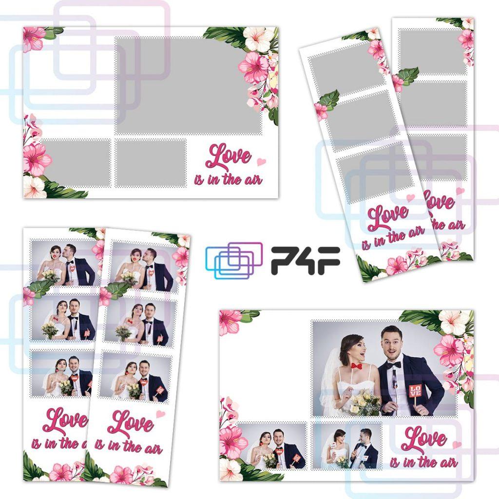 Szablon do fotobudki Kwiaty Premium -5x15 10x15 - 2 sztuki