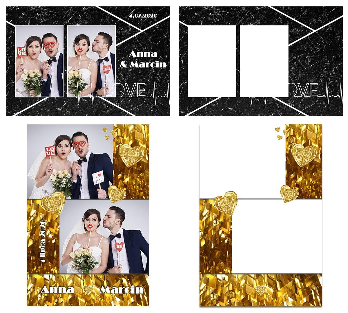 nowe szablony do fotobudki weselne 2020