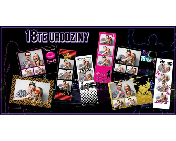 szablony na 18 urodziny fotobudka