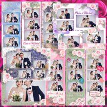 Weselne szablony do fotobudek Wedding_02 Basic