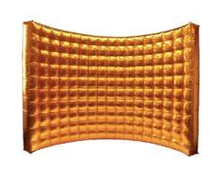 Dmuchana ścianka złota 2,4x3m